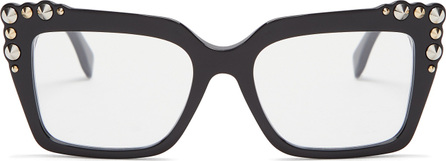 Fendi Stud-embellished square-frame glasses