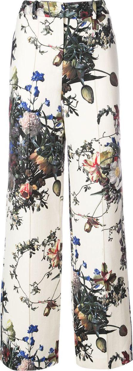 Adam Lippes flower print palazzo trousers