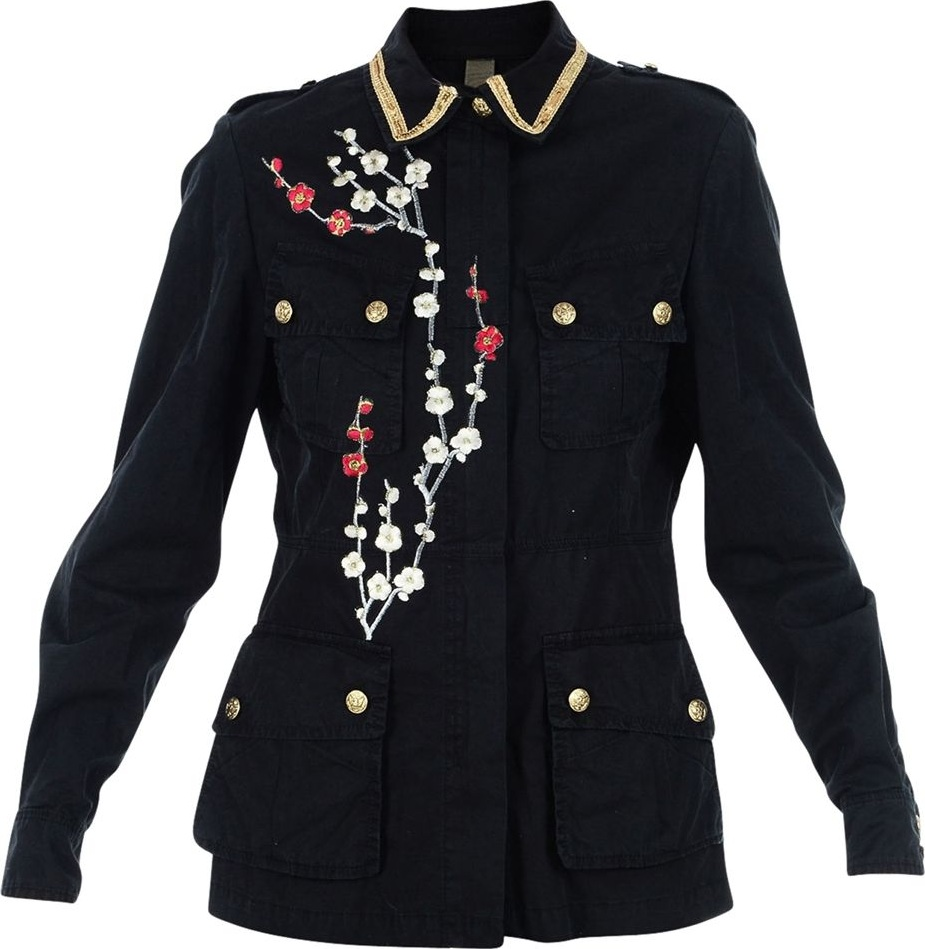 History Repeats - Black Embroidered Jacket
