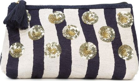 FIGUE River Stripe cosmetic pouch