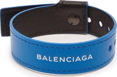 Balenciaga Logo-print leather bracelet