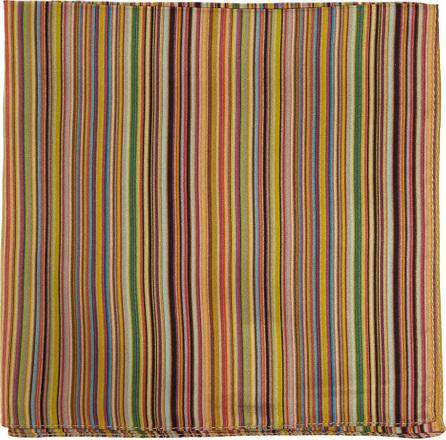 Paul Smith Signature-stripe silk pocket square