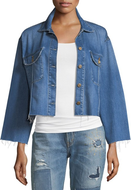 Acynetic Frida Deconstructed Cropped Denim Jacket