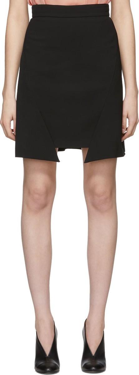 Alexander McQueen Black Step Hem Miniskirt