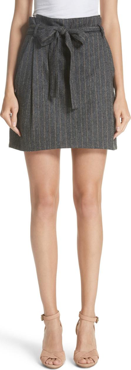 Ulla Johnson Leo Paperbag Waist Wool & Silk Blend Skirt