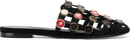 Ermanno Scervino Bottle cap mules