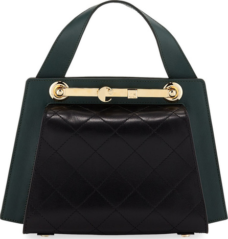 Carven Colorblock Leather Doctor's Tote Bag