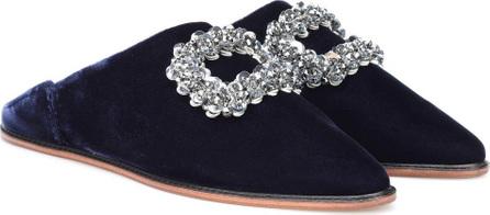 Roger Vivier Bab' Viv' embellished velvet slippers