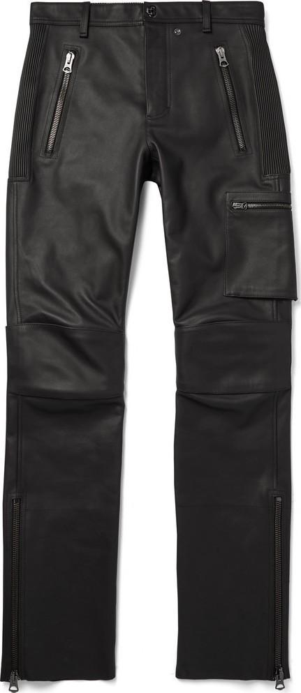 Acne Studios Slim-Fit Leather Biker Trousers