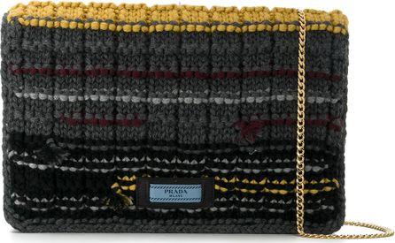 Prada knitted shoulder bag