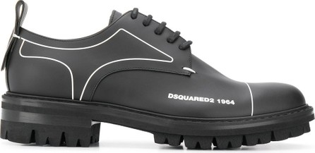 DSQUARED2 Linear-detail chunky derby shoes