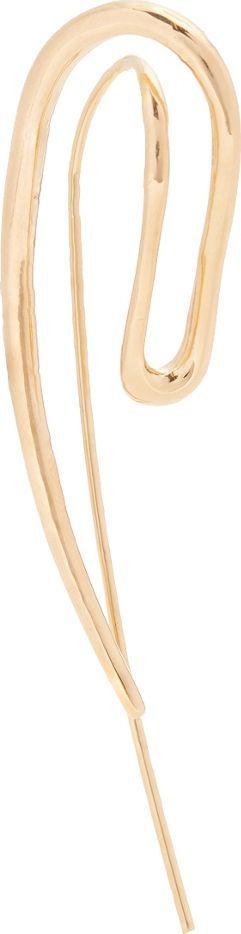 Charlotte Chesnais Initial gold-plated single earring