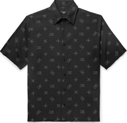 Fendi Logo-Print Lyocell Shirt