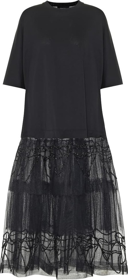 Simone Rocha Tiered cotton midi dress