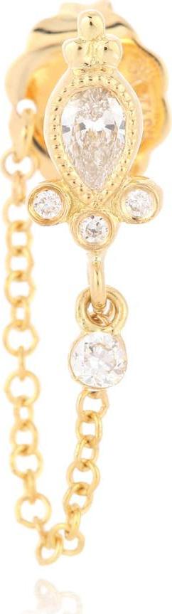 Maria Tash Diamond Delia and Dangle 1 Chain Wrap 18kt gold and diamond earring