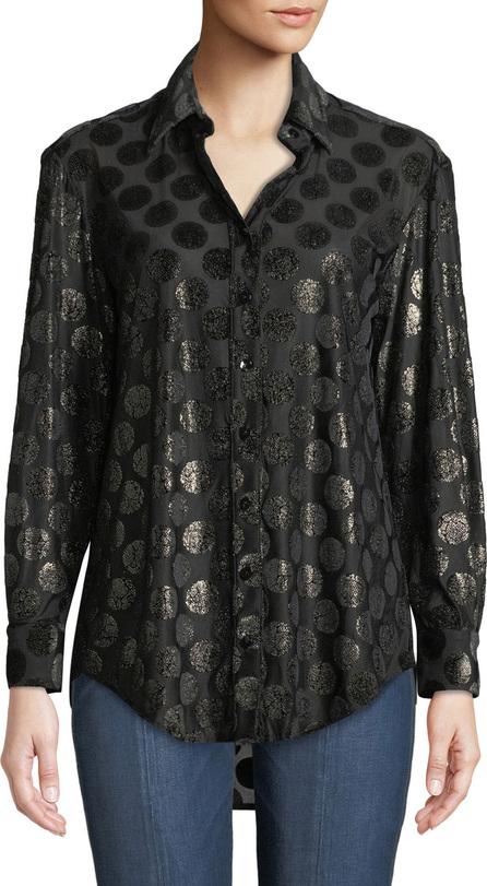 Finley Monica Long-Sleeve Luxe Polka-Dot Shirt