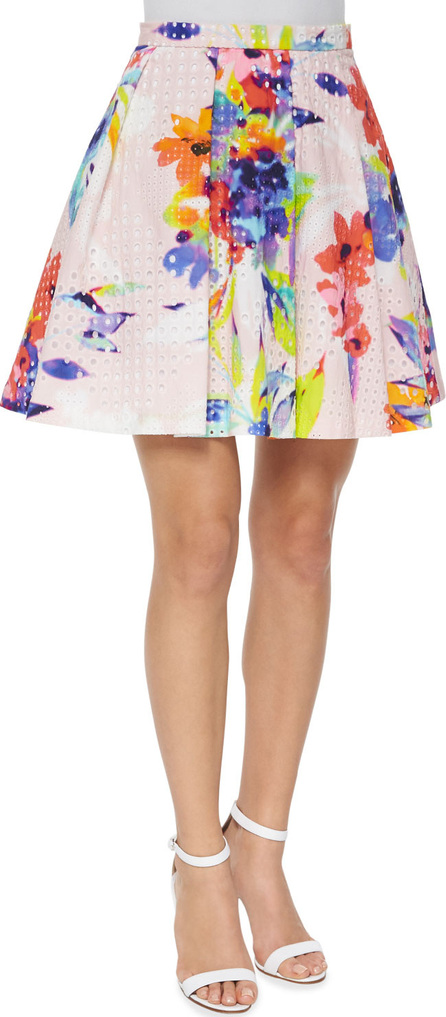 Trina Turk Marion Floral-Print Party Skirt