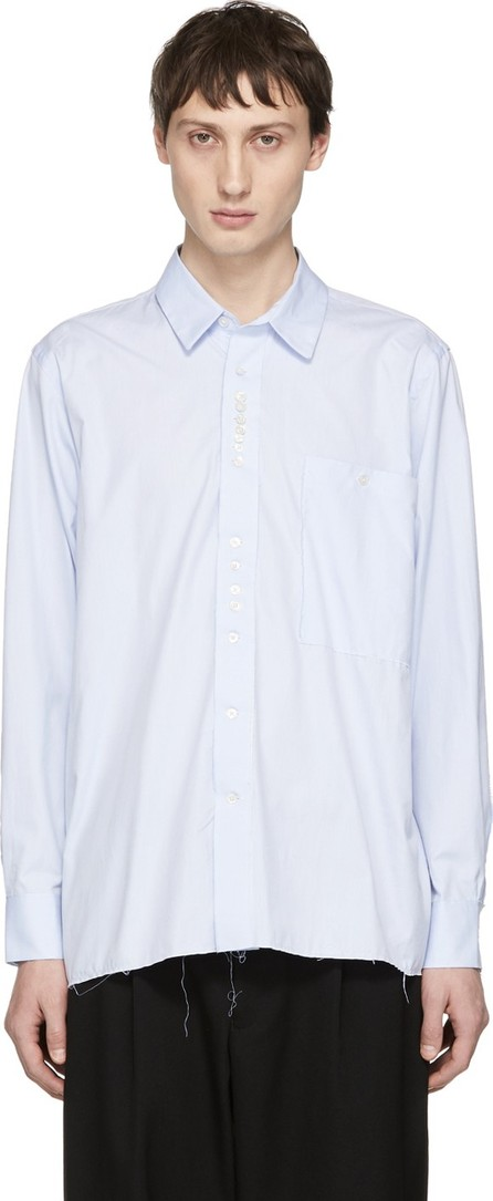 Camiel Fortgens Blue Cotton Deconstructed Shirt