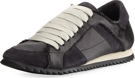 Pedro Garcia Cristina Satin Lace-Up Trainer Sneaker