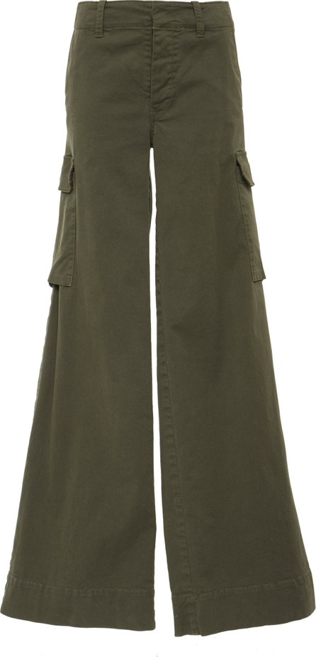 Nili Lotan Harrow Stretch-Cotton Twill Wide-Leg Pants