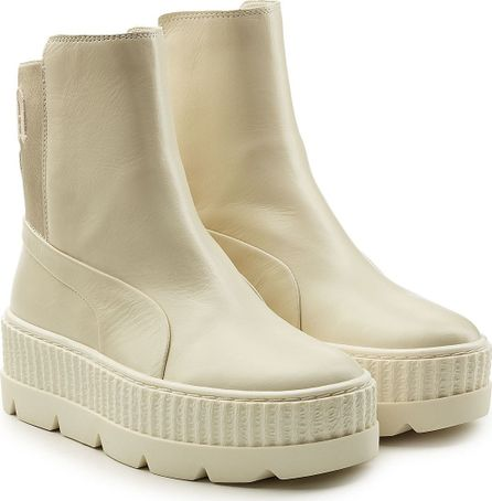FENTY PUMA by Rihanna Leather Creeper Ankle Boots