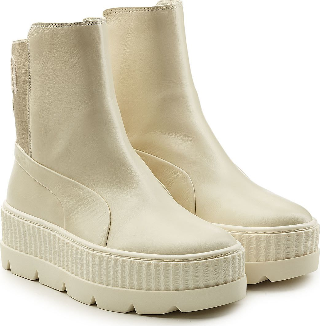 separation shoes f9523 709cf Leather Creeper Ankle Boots