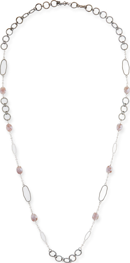 Armenta New World Rose Bead & Link Necklace