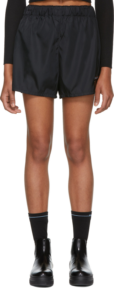 Prada Black Nylon Sporty Shorts