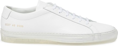 Common Projects 'Original Achilles' clear sole low top lace up leather sneakers