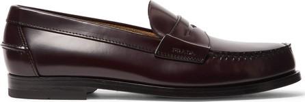 Prada Spazzolato Leather Penny Loafers