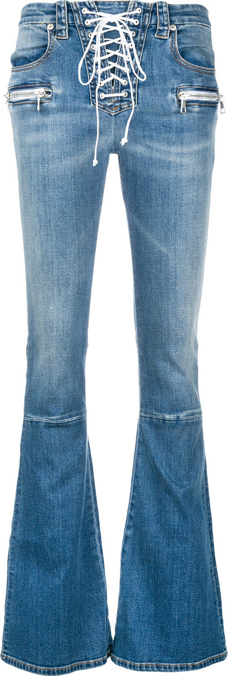 Ben Taverniti Unravel Project Lace up flared jeans