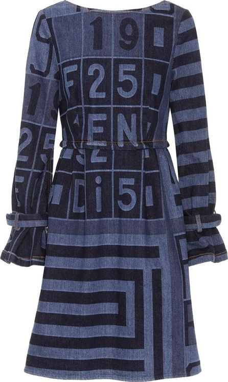 Fendi Printed cotton dress