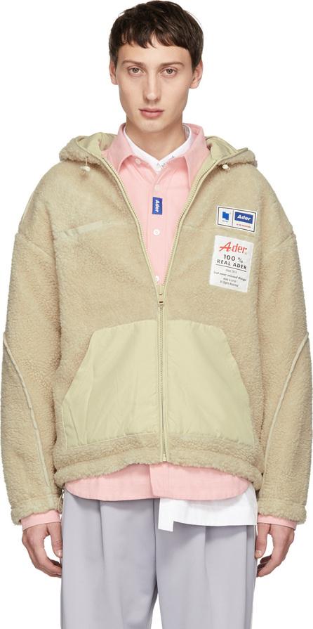 ADER error Reversible Beige Fleece Hoodie Jacket