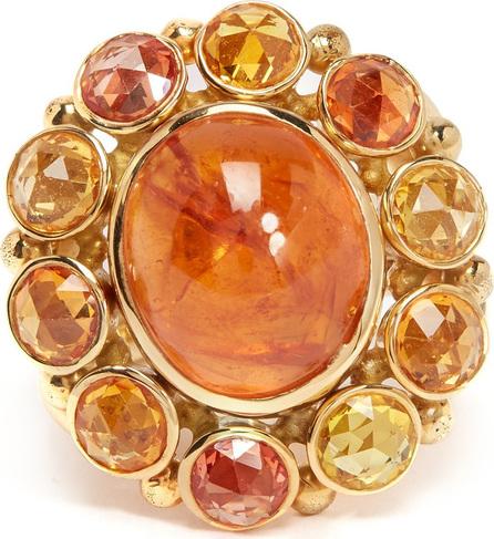 Brigid Blanco 18kt gold, spessartite and sapphire ring