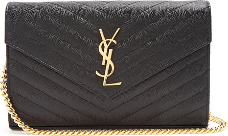 Saint Laurent Monogram quilted-leather cross-body bag