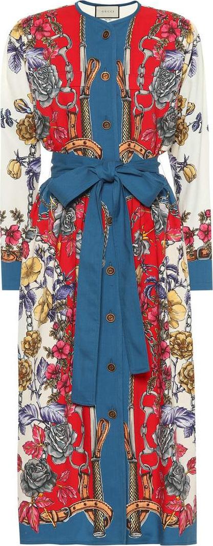 Gucci Printed wool dress