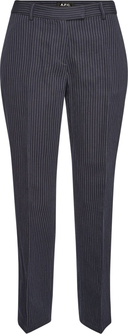 A.P.C. Cotton-Linen Cece Cropped Pinstripe Pants