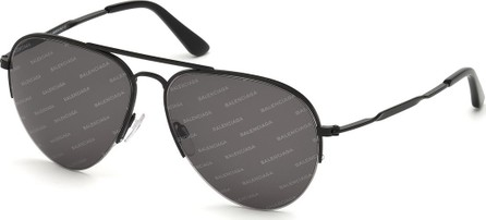 Balenciaga Logomania Metal Aviator Sunglasses