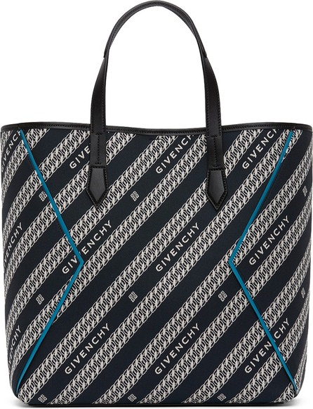 Givenchy Black & Blue Jacquard Bond Shopping Tote
