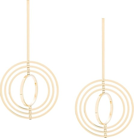Jil Sander Three circle drop earrings