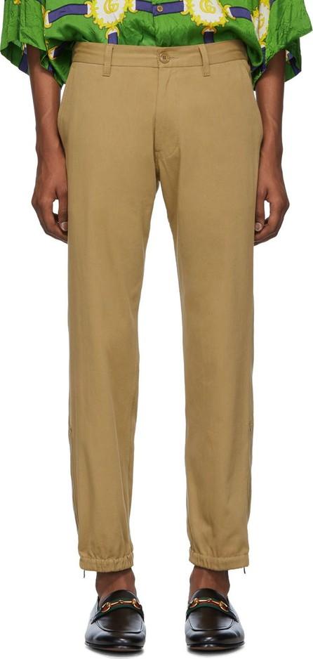 Gucci Tan 'Gucci Band' Trousers