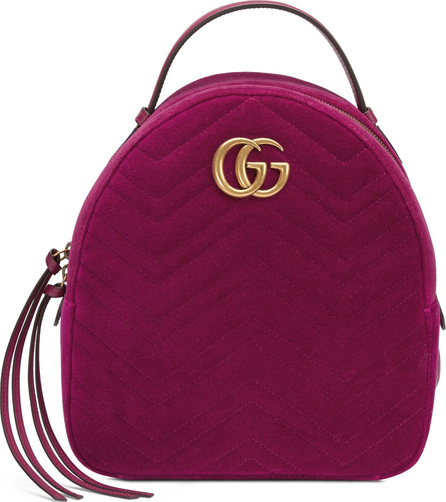Gucci GG Marmont 2.0 Matelassé Quilted Velvet Backpack