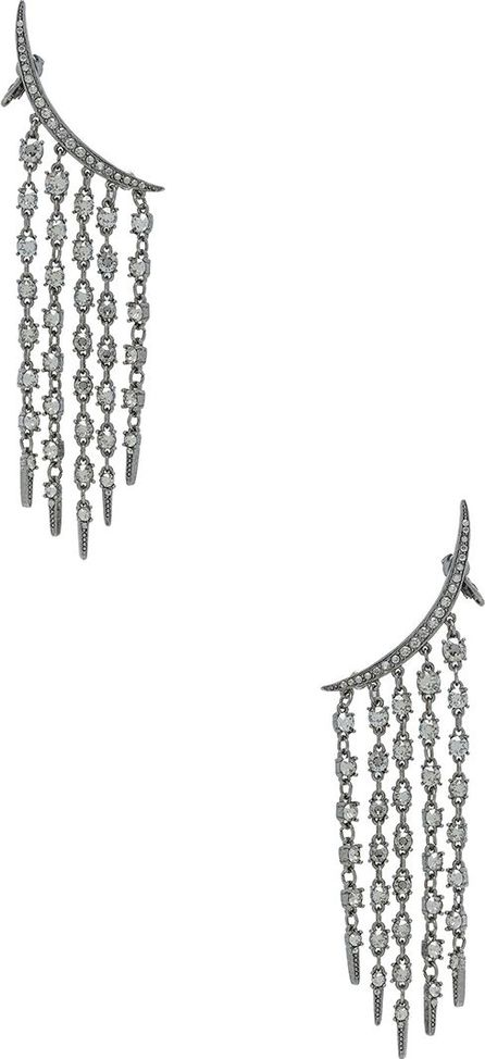 Oscar De La Renta Tendril Crystal Earrings