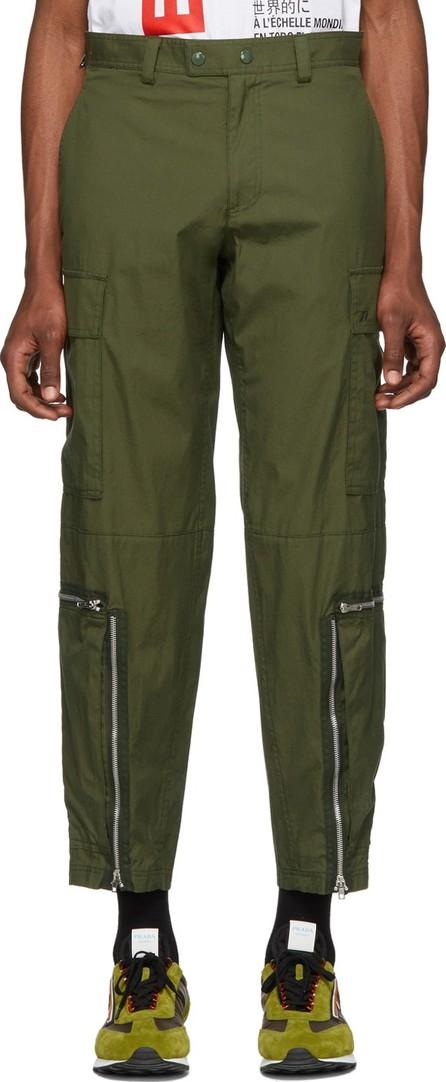 Helmut Lang Green Aviator Cargo Pants