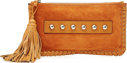 RED Valentino Embellished Suede Clutch