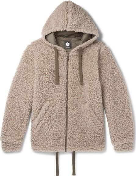Aspesi Wool-Blend Fleece Zip-Up Hoodie