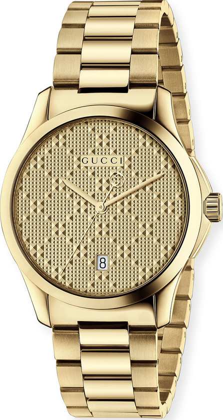 Gucci G-Timeless Bracelet Watch, Yellow Golden