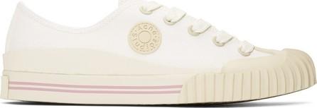 Acne Studios Blå Konst White Blå Konst Tennis Sneakers
