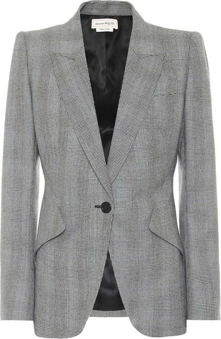 Alexander McQueen Checked wool and cashmere blazer