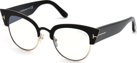 TOM FORD Alexandra Cat-Eye Metal & Acetate Optical Frames